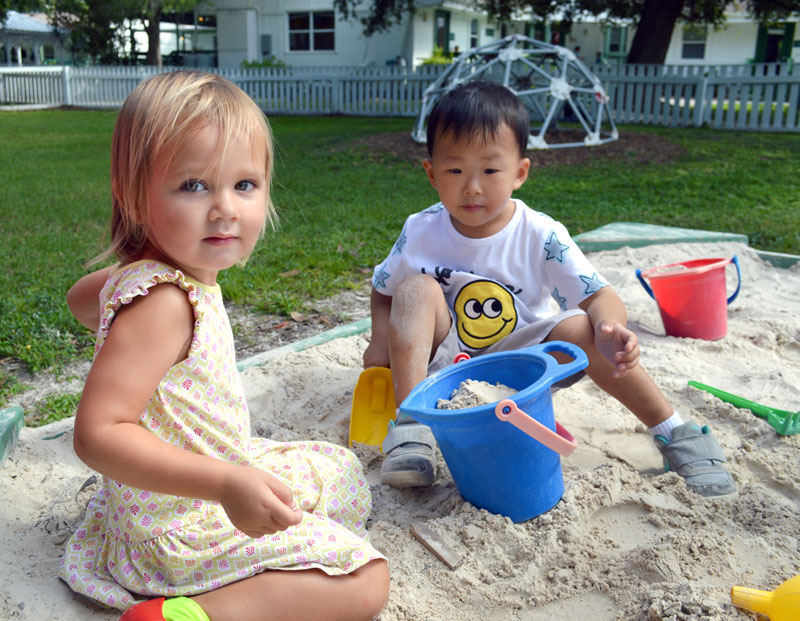 Toddlers playing at New Gate Montessori School