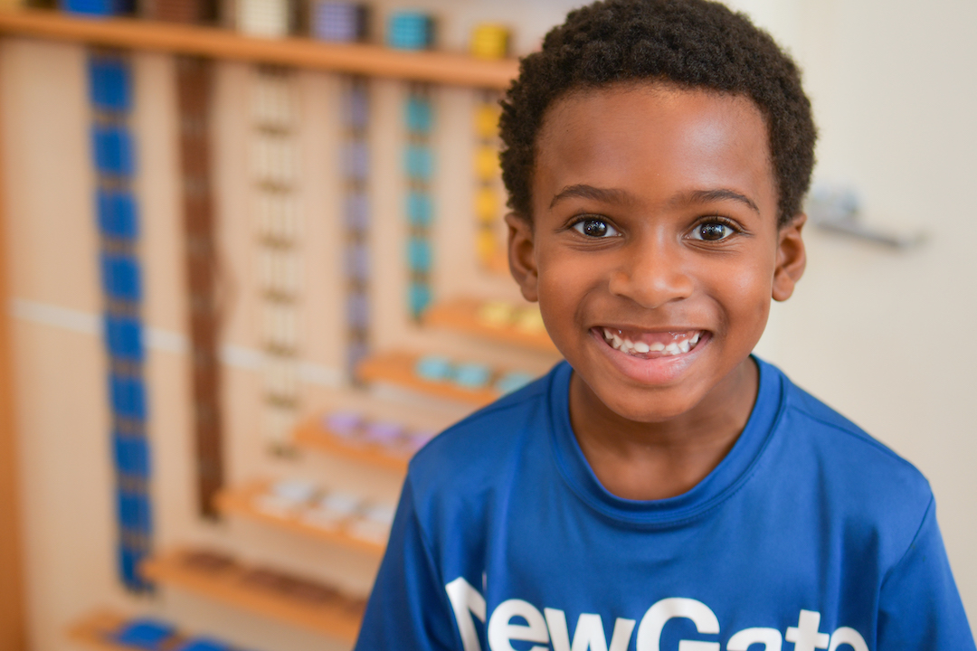 NewGate Montessori Elementary School student